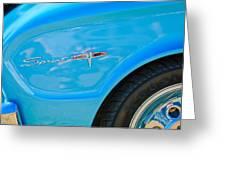 1963 Ford Falcon Sprint Side Emblem Greeting Card by Jill Reger
