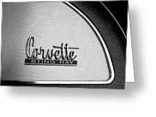 1967 Chevrolet Corvette Glove Box Emblem Greeting Card by Jill Reger