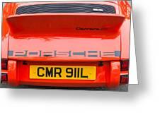 1973 Porsche 911 Carrera Rs Lightweight Rear Emblem Greeting Card by Jill Reger