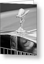 1984 Rolls-royce Silver Spur Hood Ornament Greeting Card by Jill Reger