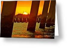 2013 First Sunset Under North Bridge 3 Greeting Card by Lynda Dawson-Youngclaus