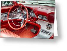 62 Thunderbird Interior Greeting Card by Jerry Fornarotto