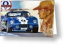 64 Cobra Daytona Coupe Greeting Card by David Lloyd Glover