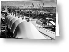 Port Of Miami Cruise Ship Terminal Miami Florida Greeting Card by Rene Triay Photography