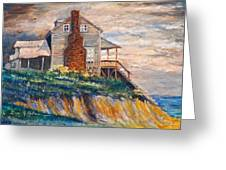 Abandoned Beach House Greeting Card by Dan Redmon