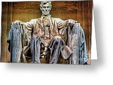 Abraham Lincoln Greeting Card by Marvin Blaine