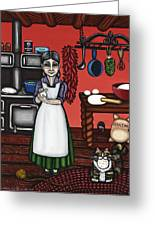 Abuelita Or Grandma Greeting Card by Victoria De Almeida