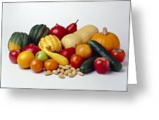 Agriculture - Autumn Fruits Greeting Card by Ed Young