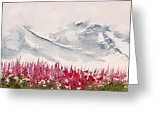 Alaska Fireweed Greeting Card by Carolyn Doe