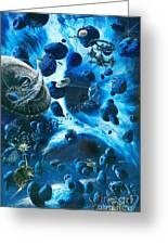 Alien Pirates  Greeting Card by Murphy Elliott
