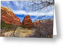 Angels Landing Greeting Card by Chad Dutson