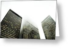Architectural Photographs Of Business Greeting Card by David Wile