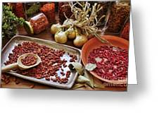 Assorted Spices Greeting Card by Carlos Caetano