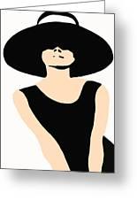 Audrey Hepburn Greeting Card by Csongor Licskai