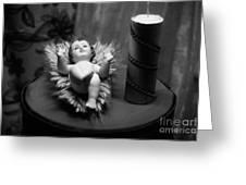 Baby Jesus Greeting Card by Gaspar Avila