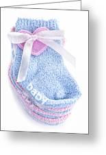 Baby Socks Greeting Card by Elena Elisseeva