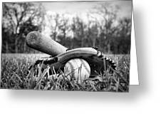 Backyard Baseball Memories Greeting Card by Cricket Hackmann