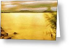 Balaton Landscape Greeting Card by Odon Czintos
