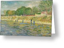 Bank Of The Seine Greeting Card by Vincent van Gogh