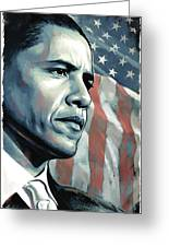 Barack Obama Artwork 2 Greeting Card by Sheraz A