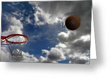 Basketball  Greeting Card by Lane Erickson