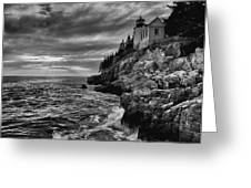 Bass Harbor Greeting Card by Chad Tracy