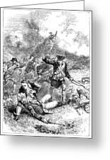 Battle Of Bunker Hill, 1775 Greeting Card by Granger