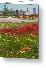 Beach Flowers At The Del Greeting Card by Mary Helmreich