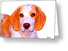 Beagle Dog Art Greeting Card by Iain McDonald