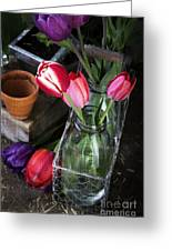 Beautiful Spring Tulips Greeting Card by Edward Fielding