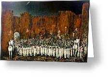 Before Battle Greeting Card by Kaye Miller-Dewing