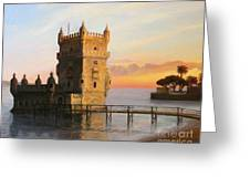 Belem Tower In Lisbon Greeting Card by Kiril Stanchev