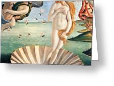 Birth of Venus Greeting Card by Sandro Botticelli