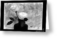 Black And White Rose Greeting Card by Marsha Heiken