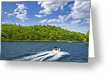 Boating On Lake Greeting Card by Elena Elisseeva