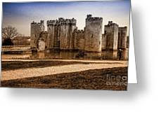 Bodiam Castle Greeting Card by Donald Davis