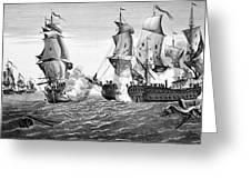 Bonhomme Richard, 1779 Greeting Card by Granger