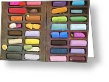 Box Of Pastels Greeting Card by Bernard Jaubert