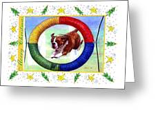 Boxer Dog Christmas Greeting Card by Olde Time  Mercantile