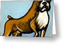 boxer Greeting Card by Pete Maier