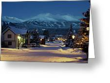 Breckenridge Colorado Morning Greeting Card by Michael J Bauer