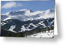 Breckenridge Resort Colorado Greeting Card by Brendan Reals