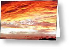 Bright Summer Sky Greeting Card by Les Cunliffe