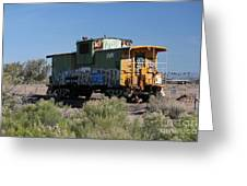 Caboose  Greeting Card by Diane  Greco-Lesser