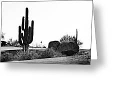 Cactus Golf Greeting Card by Scott Pellegrin