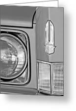 Cadillac Headlight Emblem Greeting Card by Jill Reger