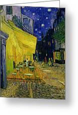 Cafe Terrace Arles Greeting Card by Vincent van Gogh