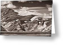 Calico Hills Greeting Card by Royce Howland