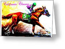 California Chrome Greeting Card by Sunny Shin