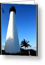 Cape Florida Lighthouse Greeting Card by Photographic Art and Design by Dora Sofia Caputo